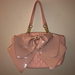 Vintage Betsy Johnson Pink Bow Handbag